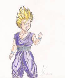 [Old Drawing - 2008] Gohan SSJ2 by Mega-Charizar