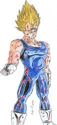 [Old Drawing - 2008] Majin Vegeta by Mega-Charizar