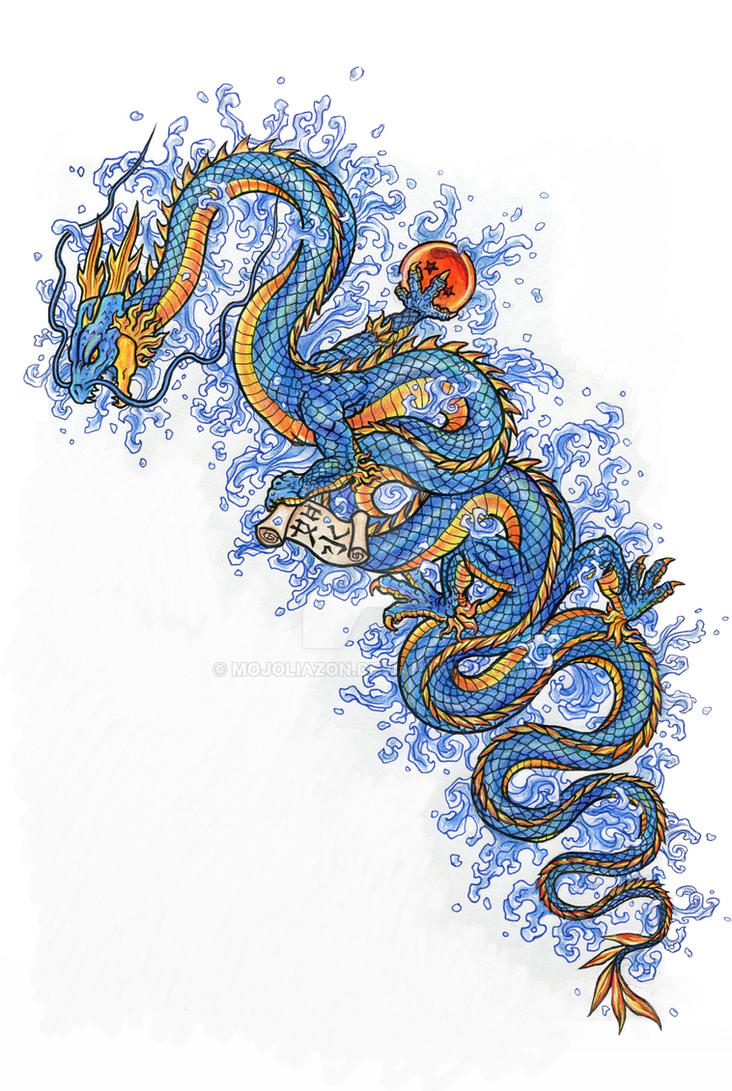 Dragon Tattoo Design by MojoLiazon
