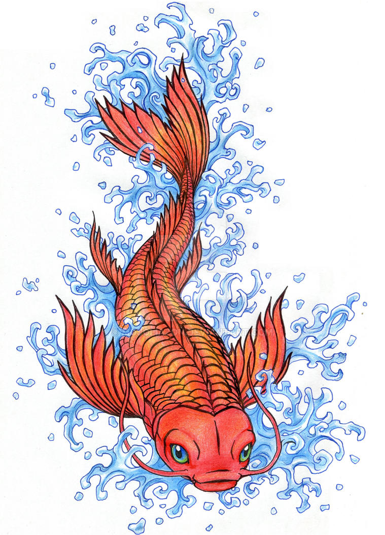 Koi Tattoo Design by MojoLiazon
