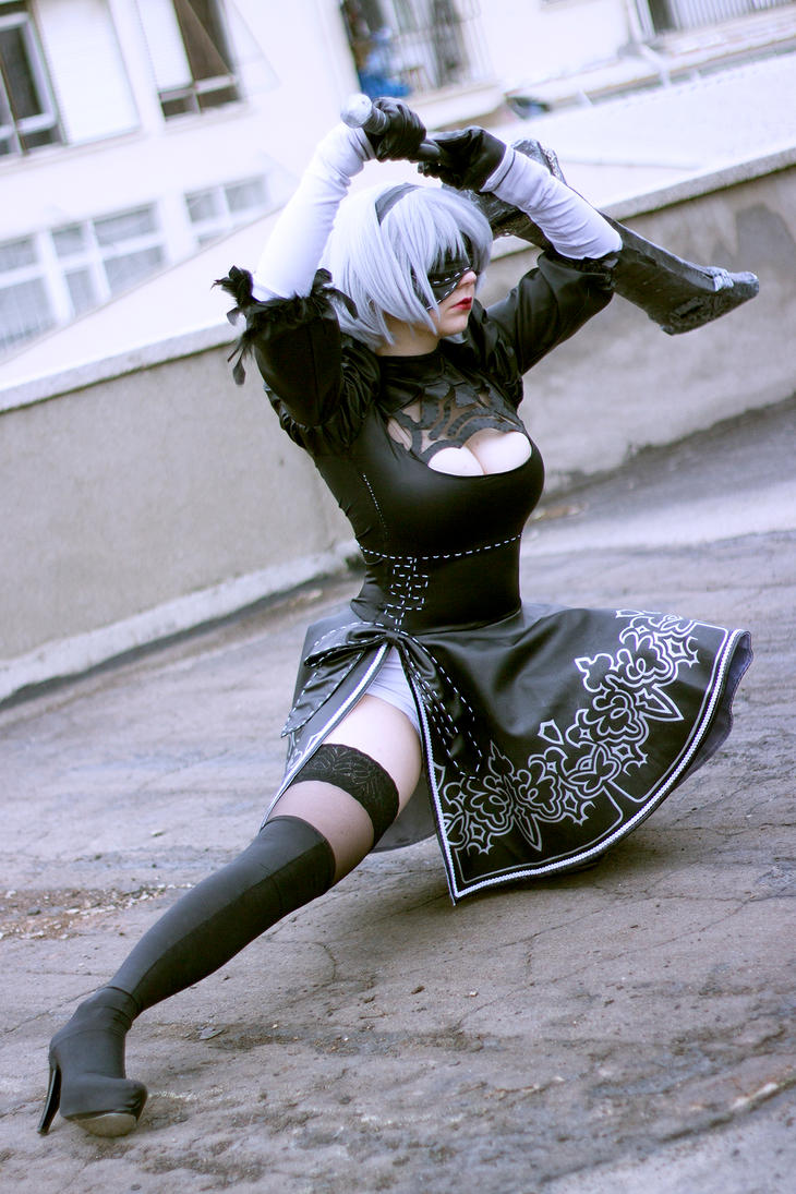 2B from NieR: Automata by Shibitohime by frontsideair