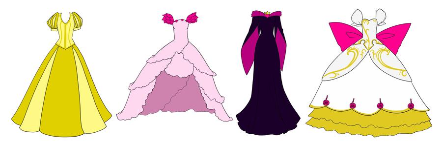 fairies dresses by Sakuyamon