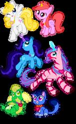 Animals of Princess Starla, FIM Style by Sakuyamon