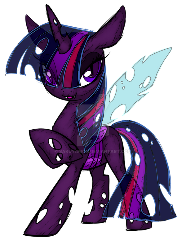 Changeling Twilight Sparkle- Element of Curses by Sakuyamon