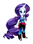 Human sprite Rarity by Sakuyamon