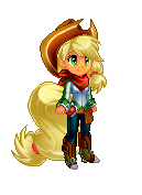 Human sprite Applejack by Sakuyamon