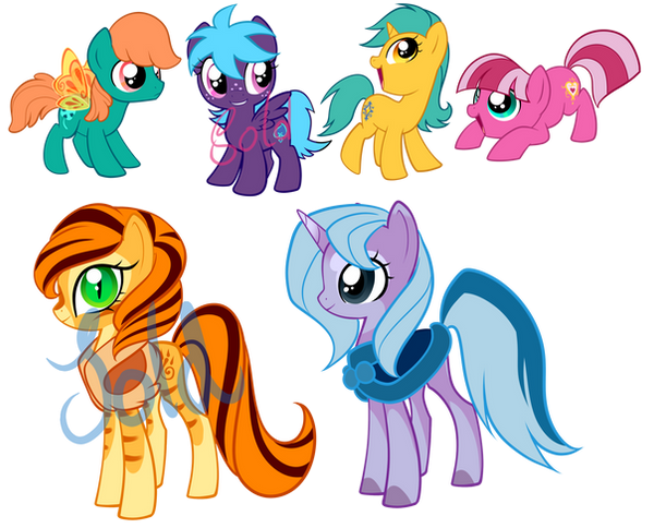 Pony Adoptables2 by Sakuyamon