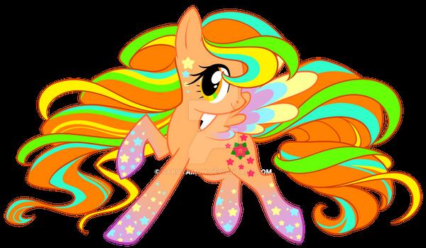 Rainbow Power April Blossom by Sakuyamon