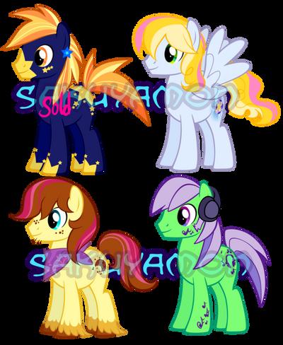 Pony Adoptables 5 by Sakuyamon