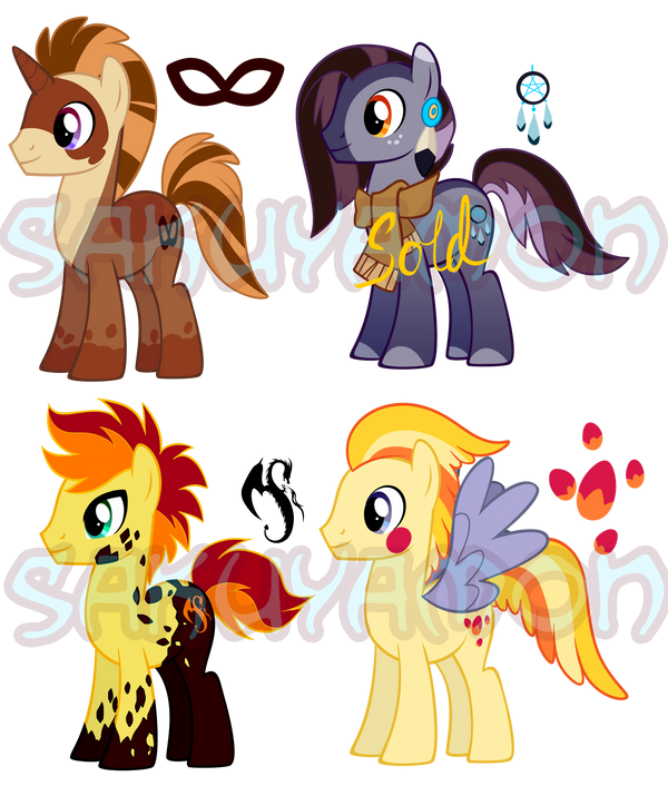 Pony Adoptables 6 by Sakuyamon