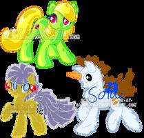 Holiday  pony adoptables!