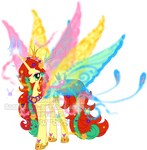 Mystery Evolving Pony Adoptable-butterfly stage5