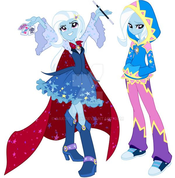 Two sides of one girl by Sakuyamon