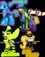 Badass Pony Adoptables by Sakuyamon