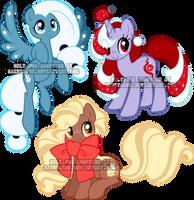 Xmas Pony adoptables 2017.1 by Sakuyamon
