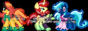 My Little Kingdom Hearts Pony Adoptables by Sakuyamon