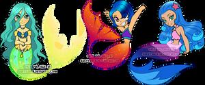 Chibi Mermaid adoptable by Sakuyamon