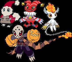 Halloween Digimon Adoptables 2 by Sakuyamon
