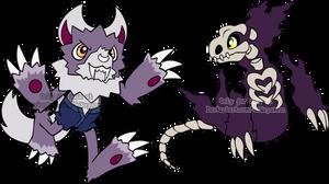 Halloween Digimon Adoptables 3 by Sakuyamon
