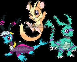 Digimon Rookie Adoptables 2 by Sakuyamon