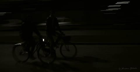 Bikes in the dark by proch