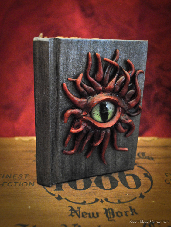 OOAK Tentacled Monster Mini-Journal by StormbloodCurio