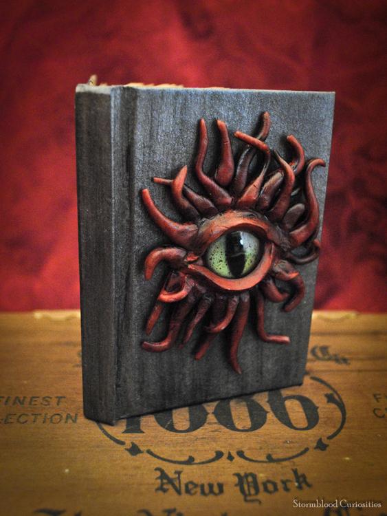 OOAK Tentacled Monster Mini-Journal by StormbloodCurio