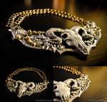 Ram Skull Fantasy Armor Sculpted Neck Piece