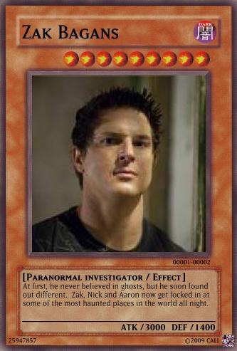 Zak Bagans Yu-gi-oh card by CaliforniaHunt24