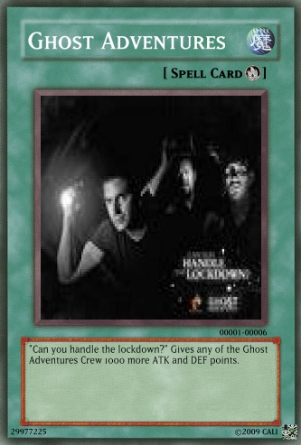 Ghost Adventures Spell card by CaliforniaHunt24