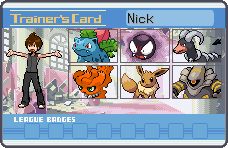 Nick Trainer Card by CaliforniaHunt24