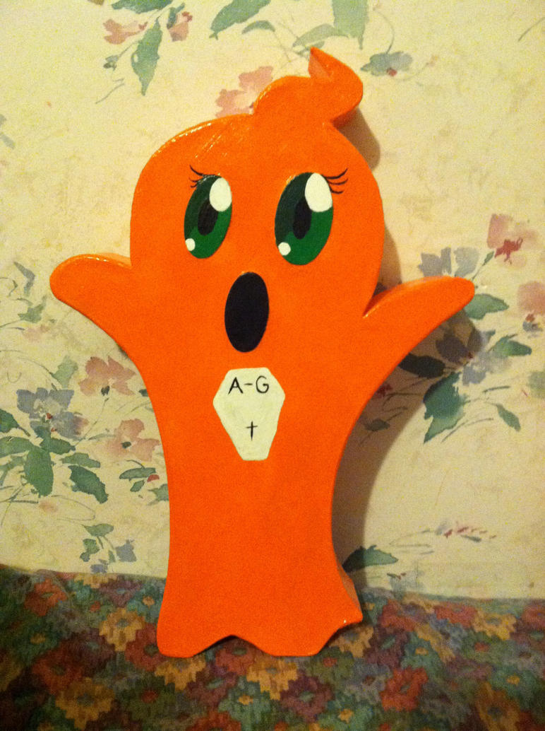 Aura the Ghost Halloween docration by CaliforniaHunt24