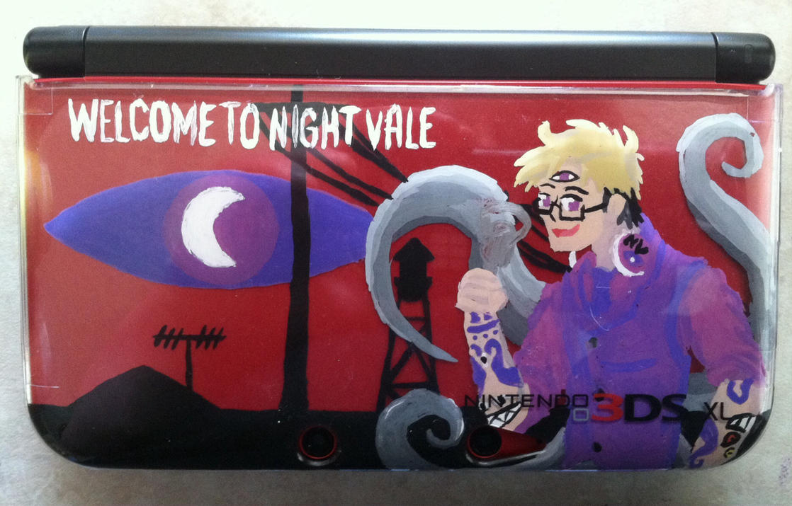 Welcome to Night Vale (front 3DS XL case) by CaliforniaHunt24