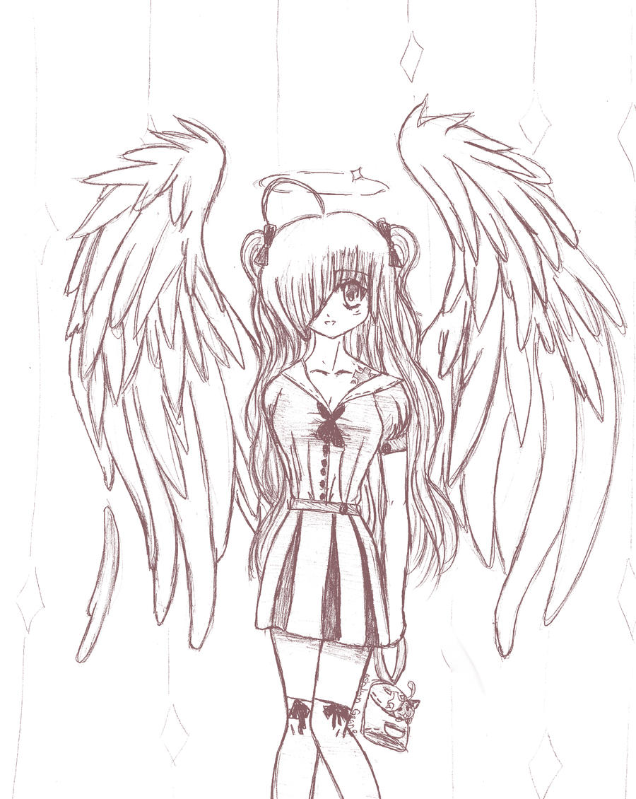 The Blonde Angel Sketch By Anime Girl7
