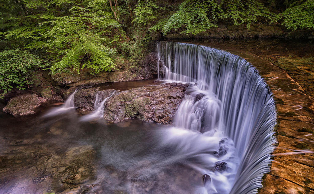 River Calder Waterfall by KlikitiKlik