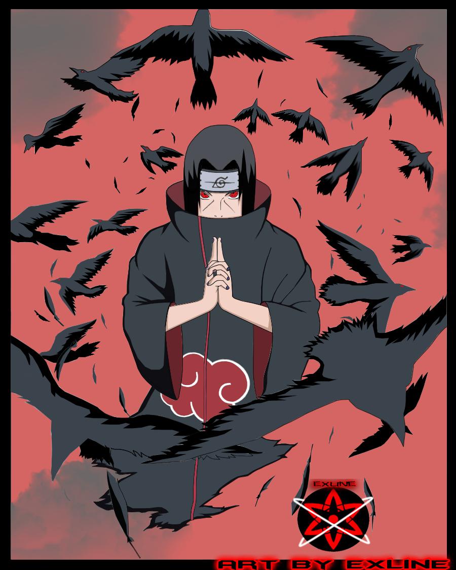 Itachi Crows Itachi crows by exline byItachi Crows Wallpaper