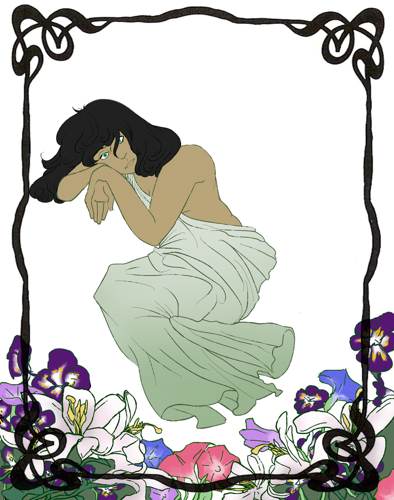 Sarin With Lilies, Pansies, And Morning Glories by ToastBusters