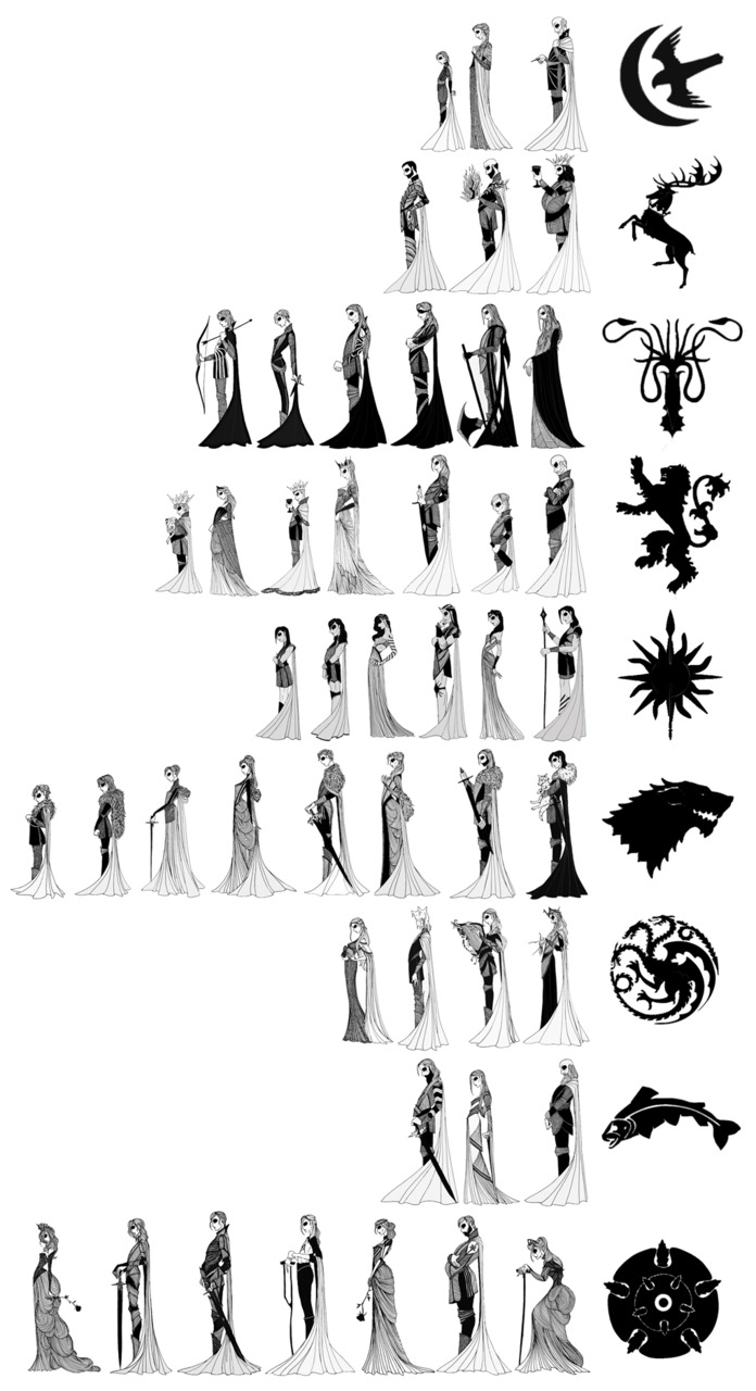 The Great Houses of Westeros (with sigils) by cabins