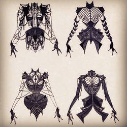 4 Corsets by cabins