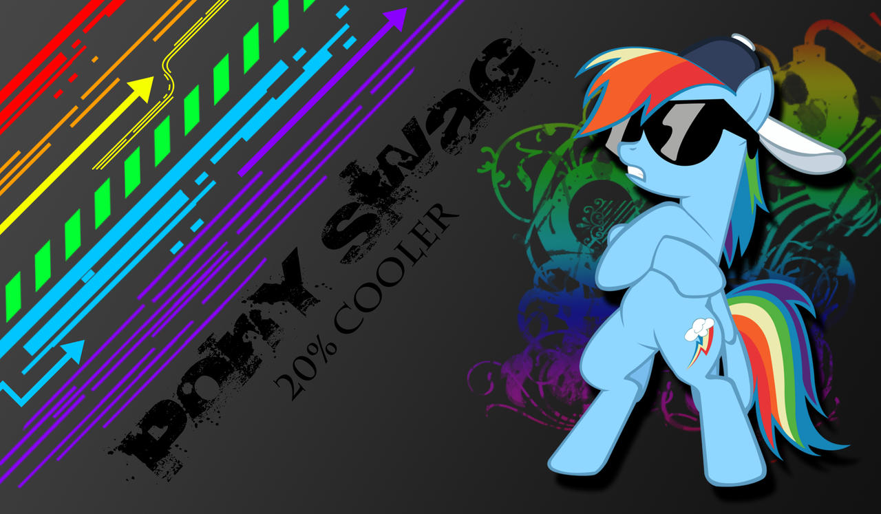Anime Rainbow Dash Swag Rainbow dash-pony swag by
