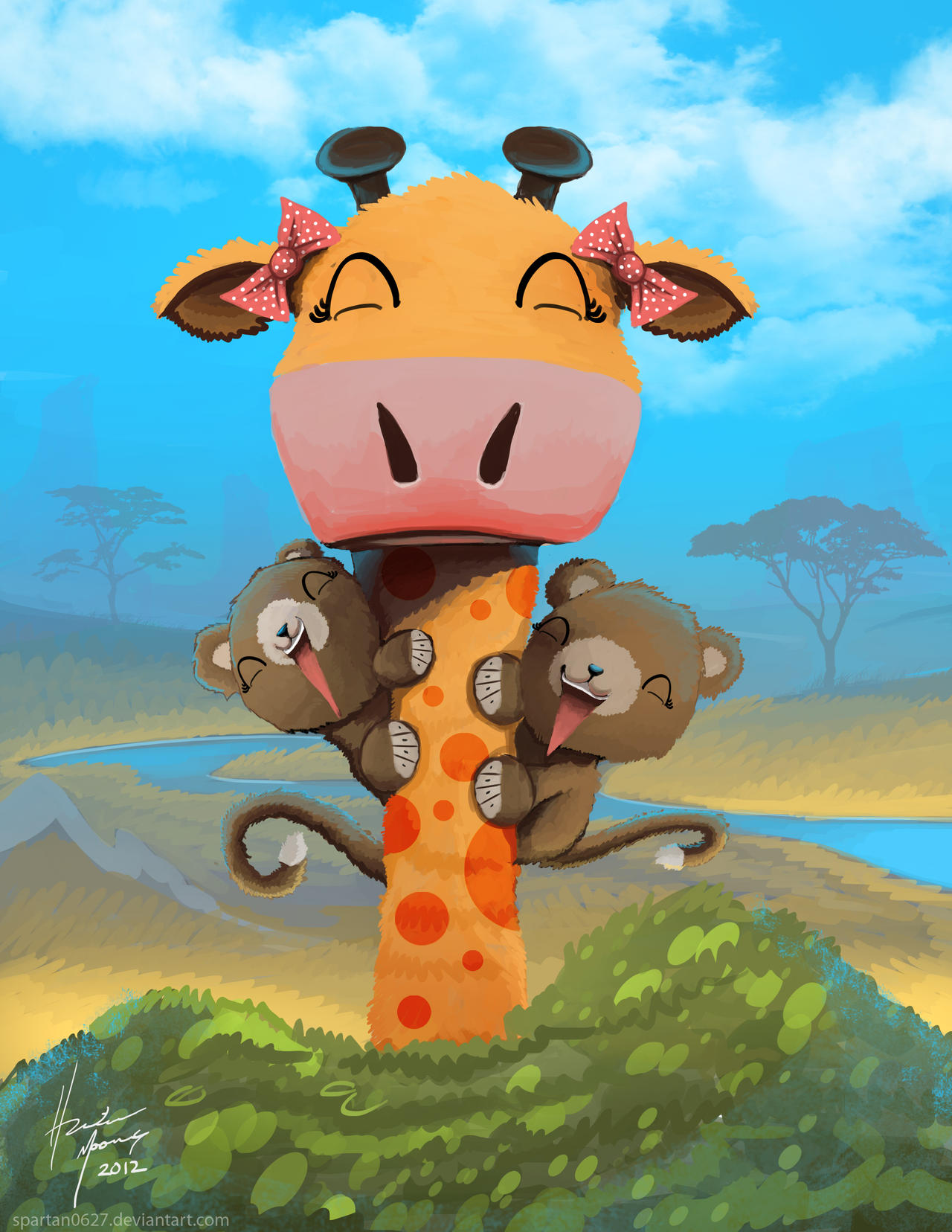 Giraffe by Spartan0627