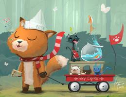 Foxy Express by Oats-Art