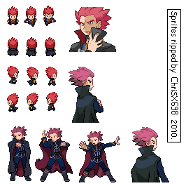 Pokemon HG-SS Sprite Lance by ChriSX698
