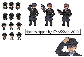 Pokemon HG-SS Sprite Giovanni by ChriSX698