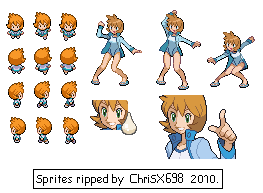 Pokemon HG-SS Sprite Misty by ChriSX698