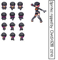 Pokemon HGSS Sprite Fem. Grunt