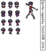 Pokemon HGSS Sprite Fem. Grunt by ChriSX698