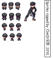 Pokemon HGSS Sprite Male Grunt by ChriSX698