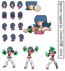 Pokemon HG-SS Sprite Sabrina by ChriSX698