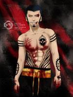 Trafalgar Law -Tattoo Style- by Akagami707